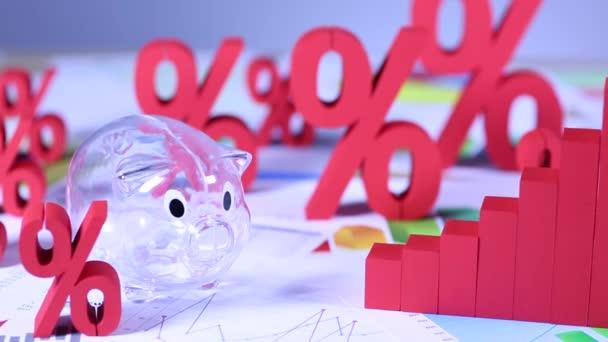 Finanční koncept s finanční symboly