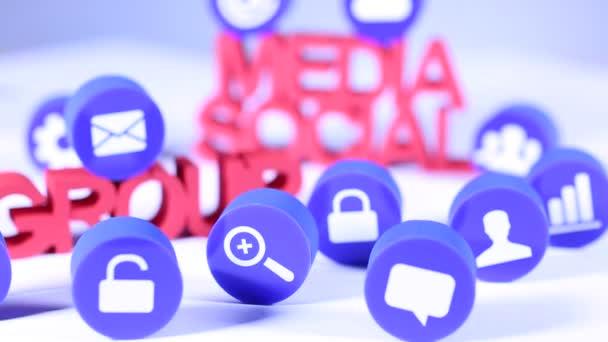 sociální media ikony nastavit