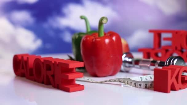 Diety a fitness, koncept zdravého životního stylu