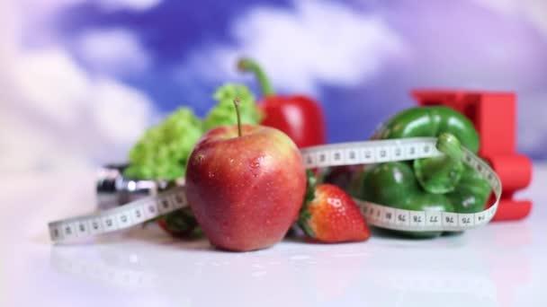 Frisches Obst und Gemüse, Fitness-Konzept