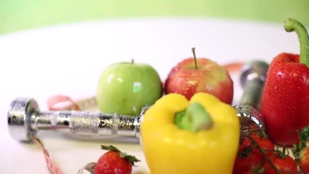 Fitness a zdravé výživy koncepce