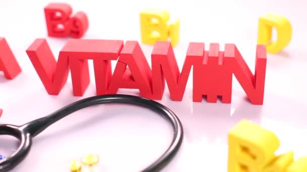 Vitamin concept, supplement pills