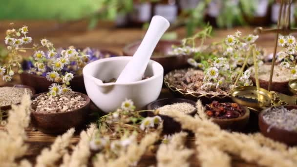 Assorted natural medical herbs