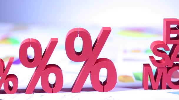 Heißes Verkaufskonzept mit Prozentsymbolen