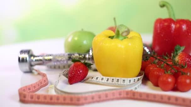 Ovoce a zelenina, fitness koncept