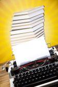 Fotografie Vintage typewriter on the table