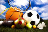 sportovní vybavení a míčky