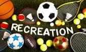 slovo rekreace sportovní vybavení