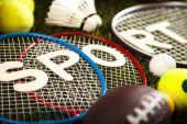 Fotografie Sport equipment and balls