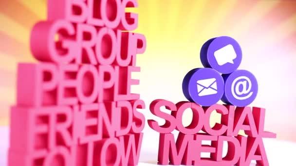szociális média ikonok beállítása