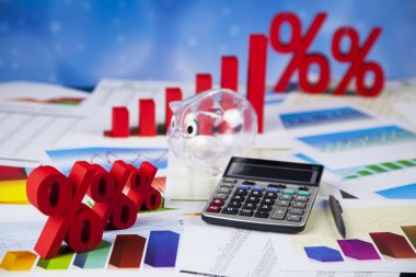 Finance concept with financial symbols