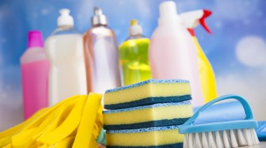 Cleaning supplies for home work