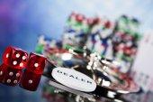 Fotografie Poker žetony s ruletou