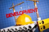 Fényképek Fejlesztés, épületek, felszerelés alatti háttér