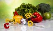 Vitamin- és fitnesz étrend, életmód fogalma