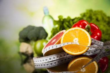 Diet and fitness, vitamin concept