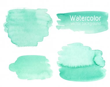 Vector set of abstract watercolor background with paper texture.