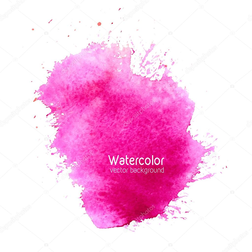 Vector abstract watercolor splash background with paper texture.
