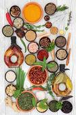 Výběr bylin a koření