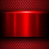 Fotografie Červené pozadí kov