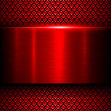 Background red metal texture, vector illustration. stock vector