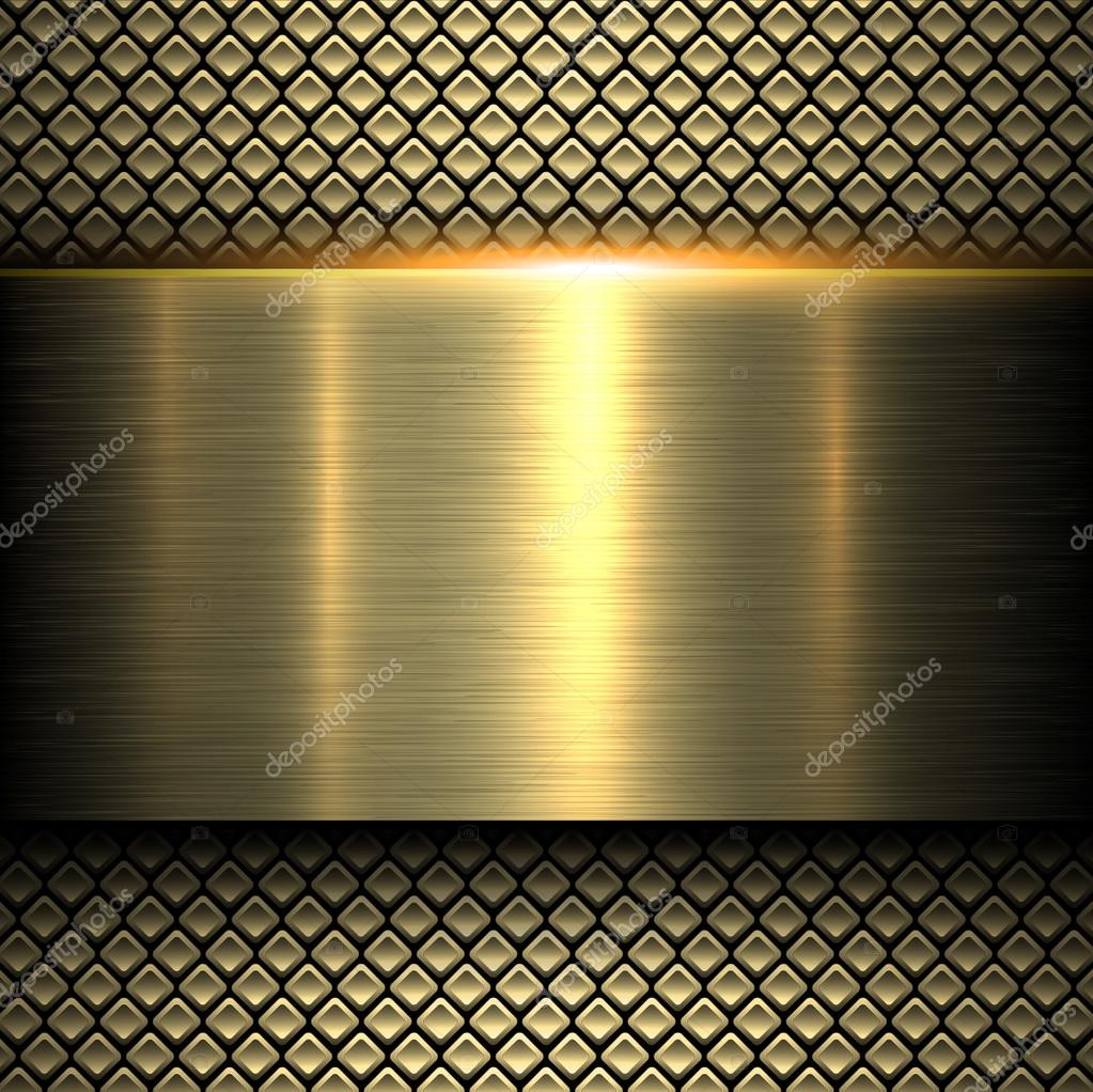 Background gold metal texture
