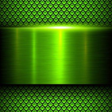 Background green metal texture