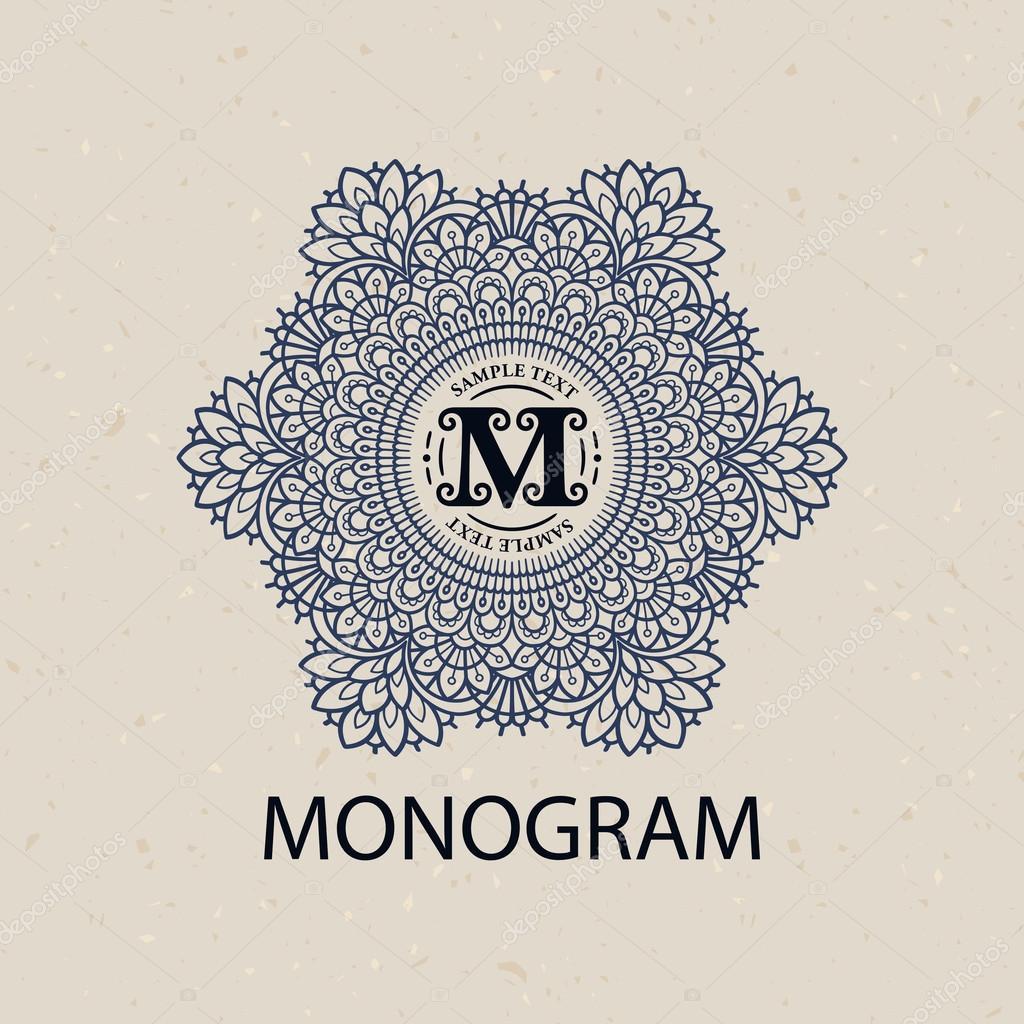 2a9e48e99994 Vintage monogram rám šablona — Stock Vektor © sanyal  105089264