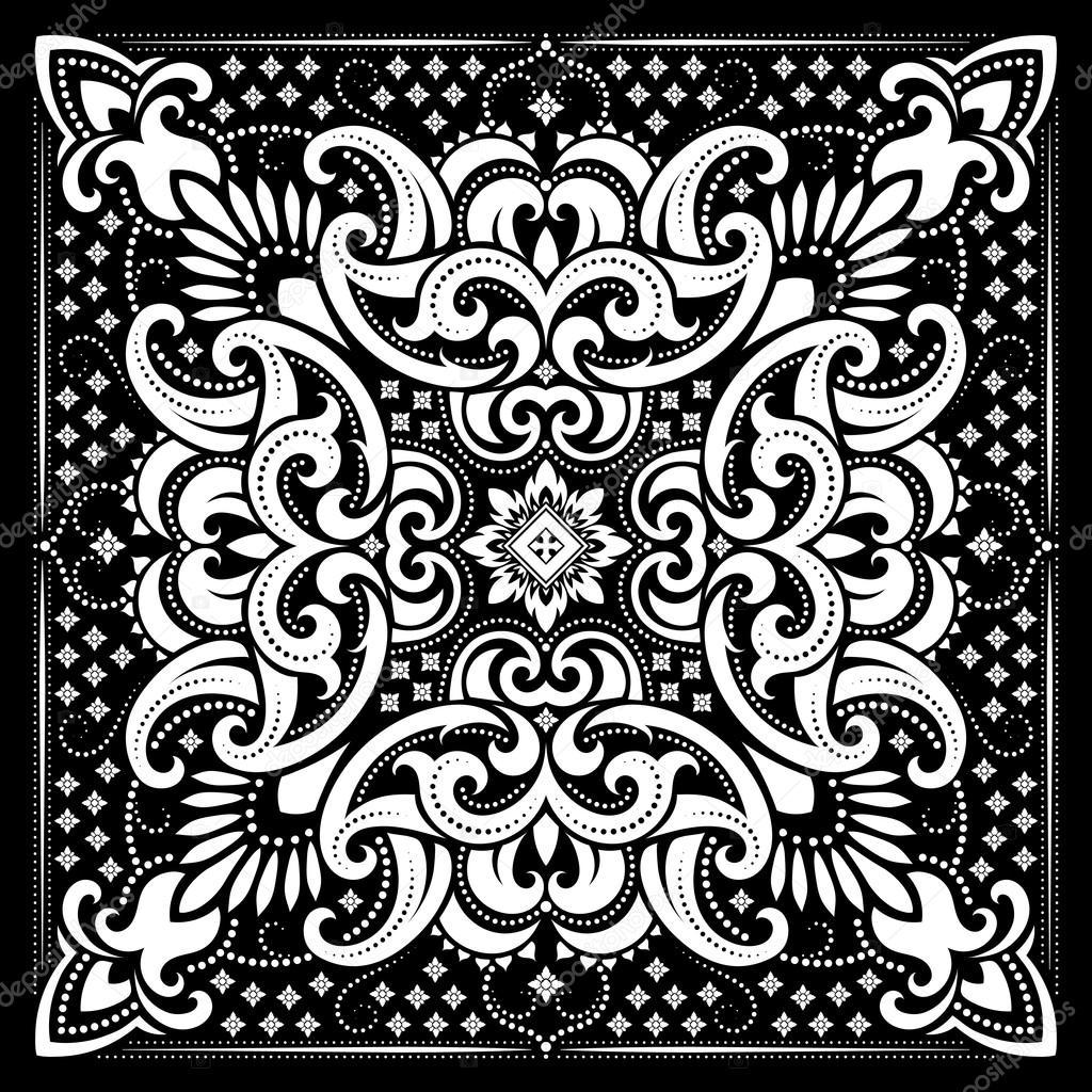 paisley bandana print stock vector sanyal 117397064 rh depositphotos com bandana vector bandana vector art