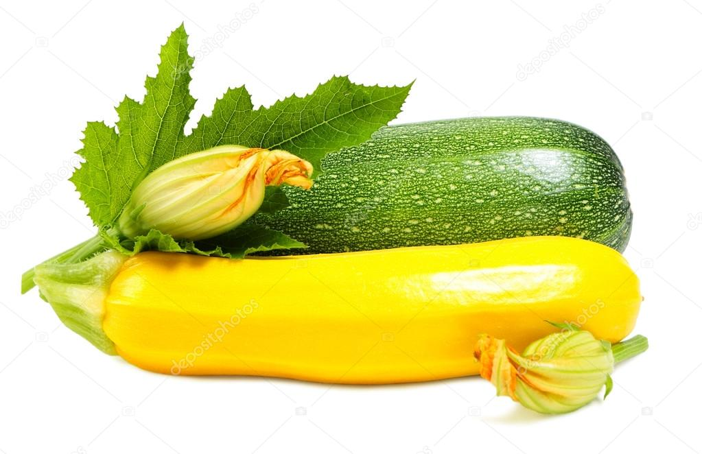 gr ne und gelbe zucchini stockfoto paleka 122366680. Black Bedroom Furniture Sets. Home Design Ideas