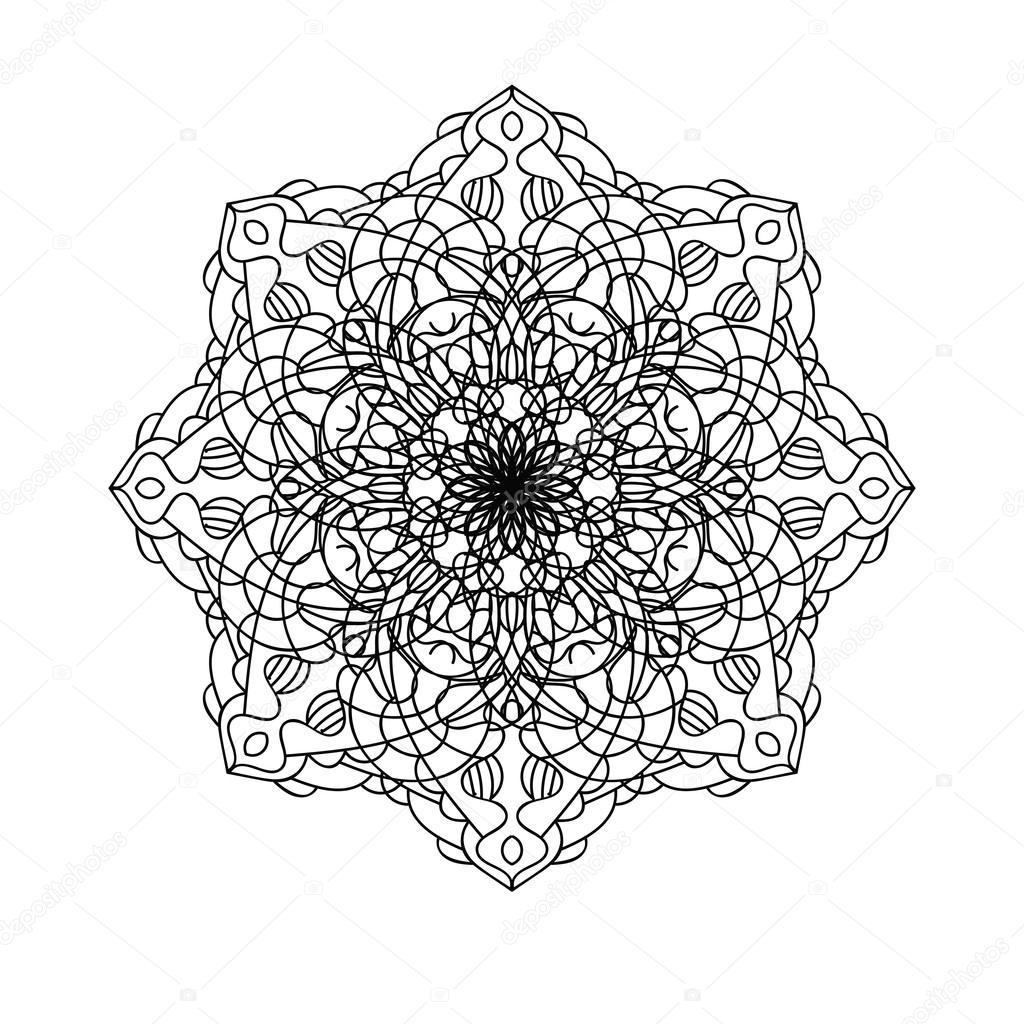 Mandala Element De Decoration Ethnique Toile De Fond Dessine Main