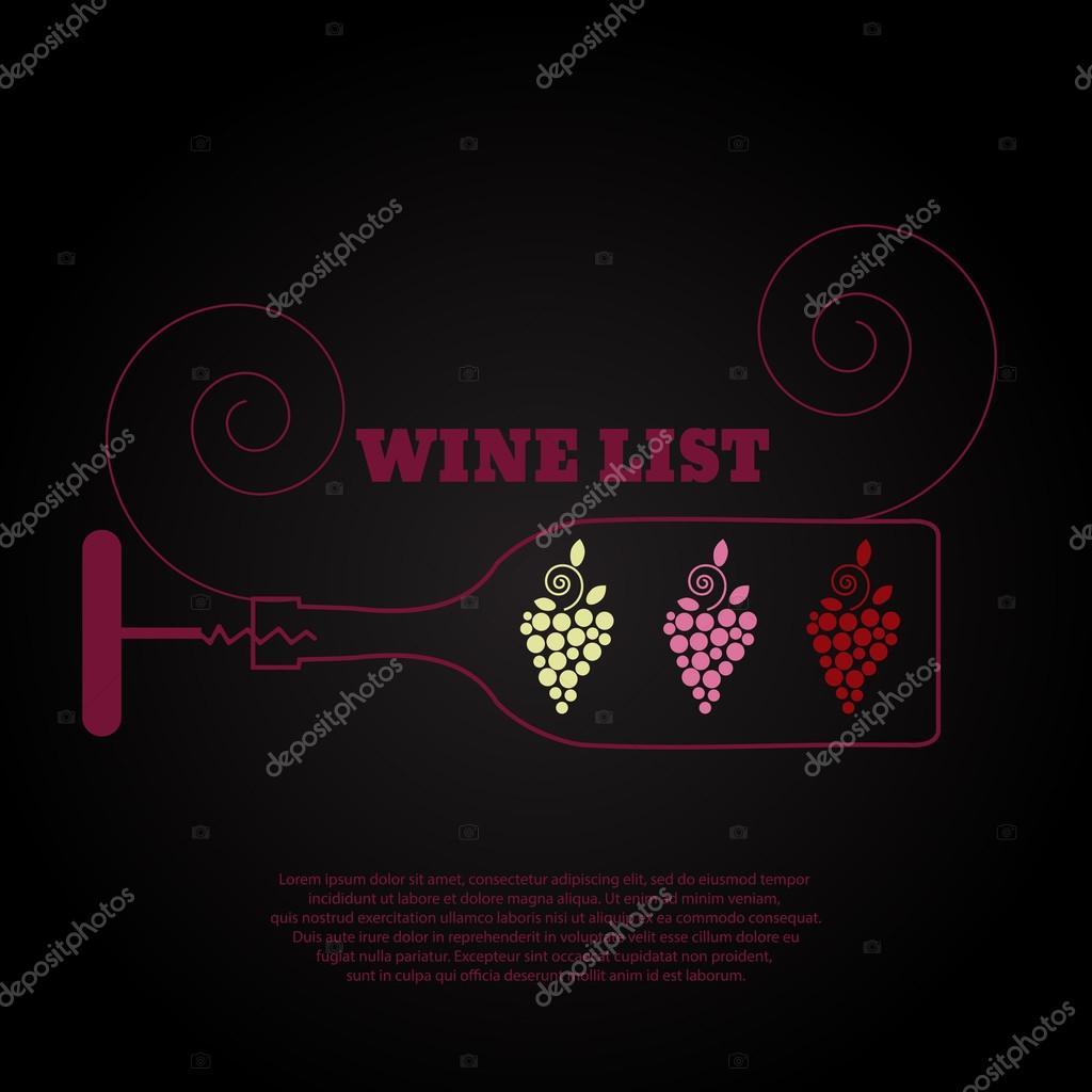 Entwerfen Sie bar cocktail oder Wein-Liste-Handzettel für das Menü ...