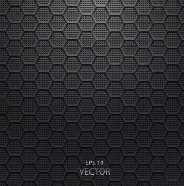Realistic hexagonal grid background eps 10 vector