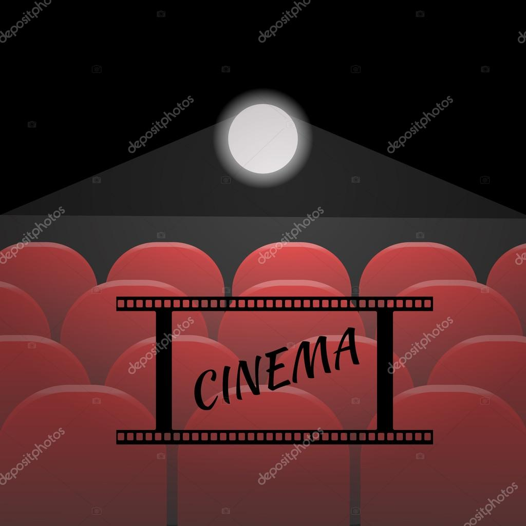 Wiersze Czerwony Miejsc Kino Czy Teatr Wektor Eps 10
