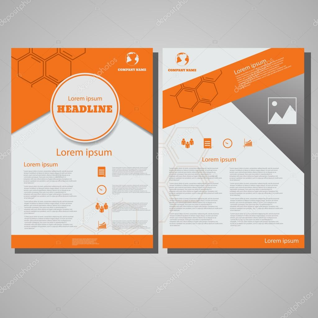 Orange farbe brosch re flyer gestaltung layout vorlage for Design firma