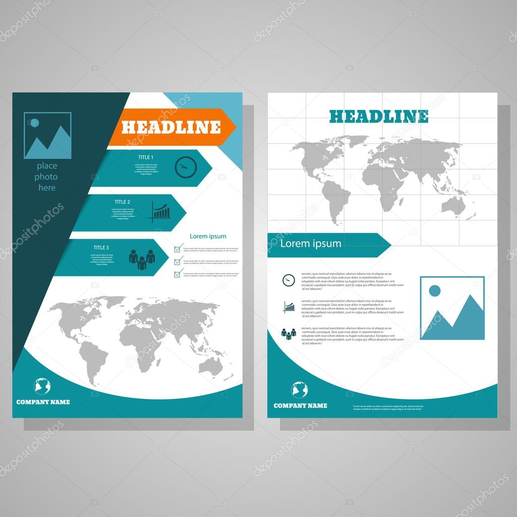 brochure flyer design layout template size a4 front page and b