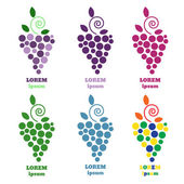Photo Eps 10 Grapes vector isolated. Grapes icon. Grapes logo. Grapes