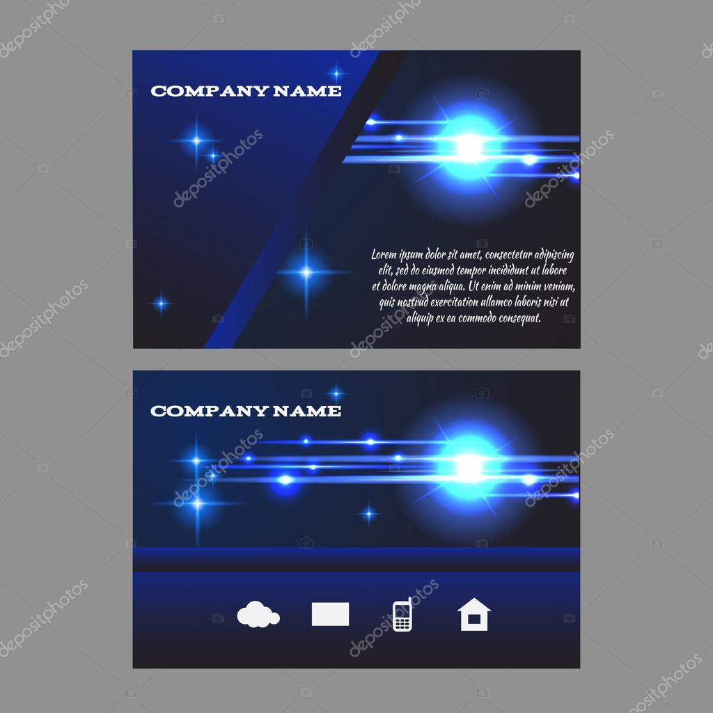 Business card template light effect eps 10 design stock vector business card template light effect eps 10 design stock vector accmission Gallery