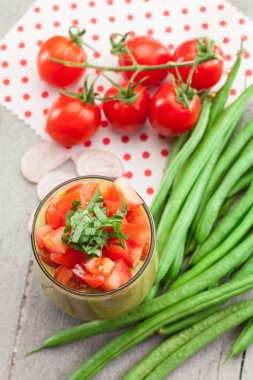 Tasty gazpacho soup
