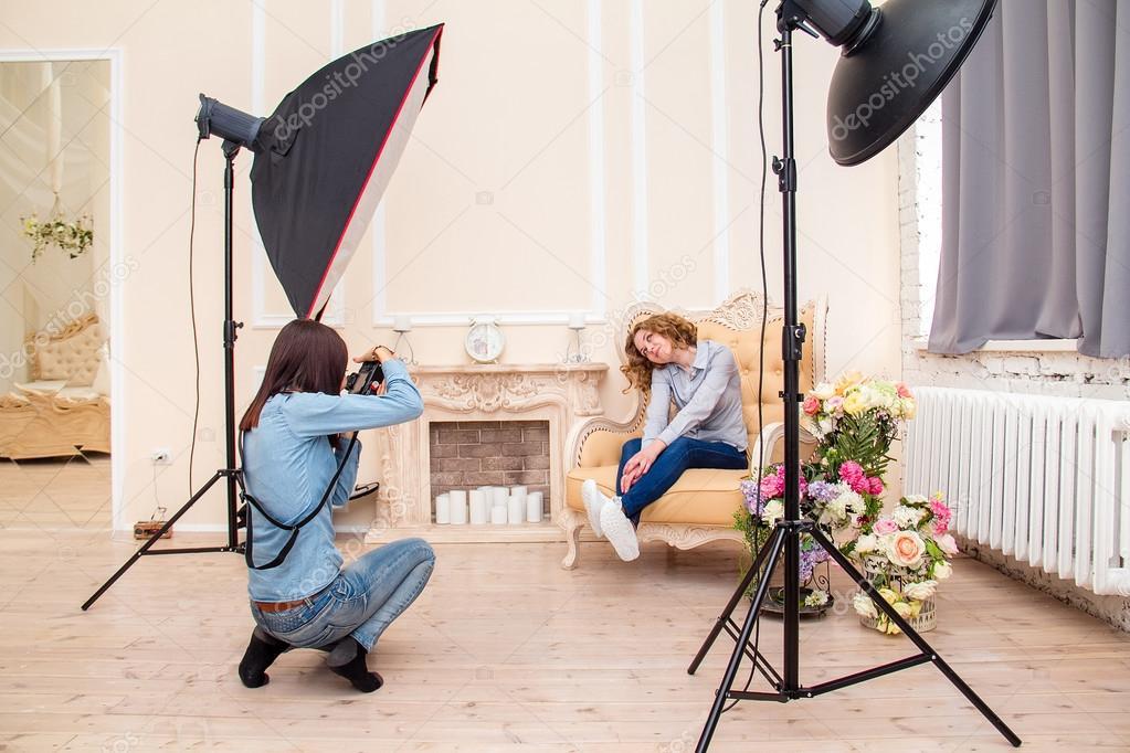 сделать профессиональные фотографии в студии можете