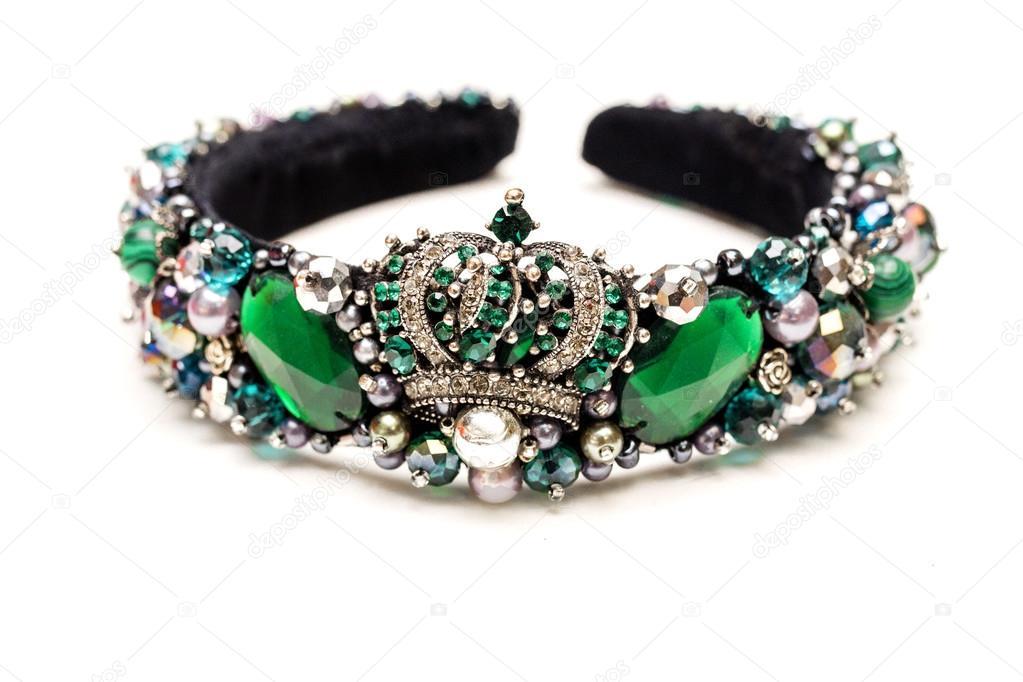 Souvent Diadema fatto a mano dei gioielli di lusso con verde smeraldo  QF63