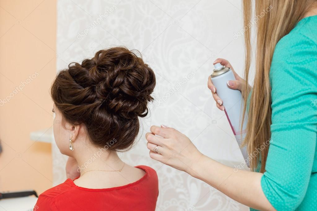 Schone Hochzeit Retro Frisur Friseur Macht Frisur Styling Locken