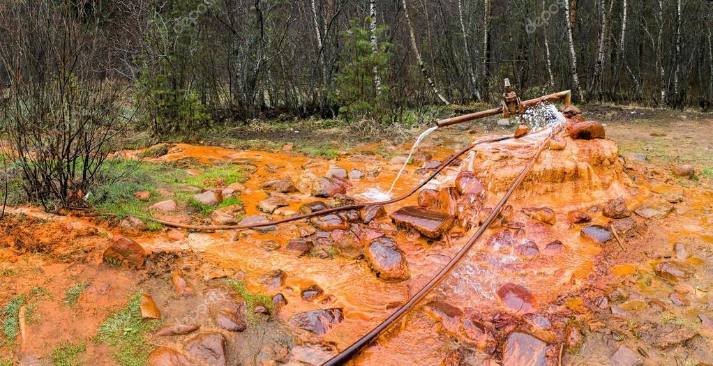 Mineral curative seltzer water source - Narzan, Elbrus region, Russia