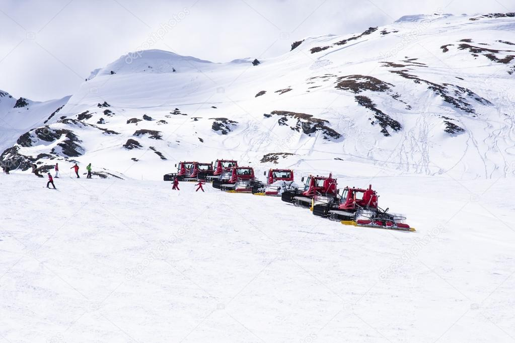 Ratraks machine in the ski resort Kaprun Austria