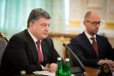 President of Ukraine Petro Poroshenko during the NSDC meeting