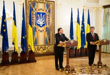 President of Ukraine Petro Poroshenko and European Commission Pr