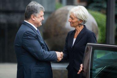Petro Poroshenko and Christine Lagarde