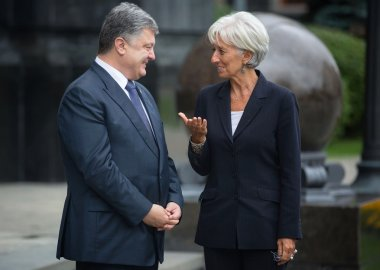 Petro Poroshenko and Christine Lagarde