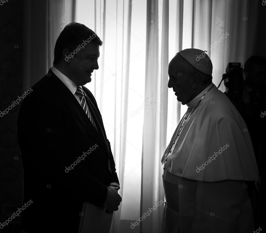 Petro Poroshenko and Pope Francis