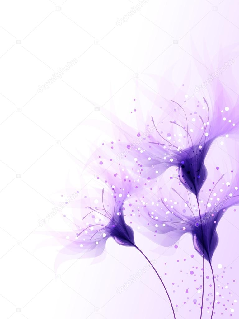 vector background with blue flowers